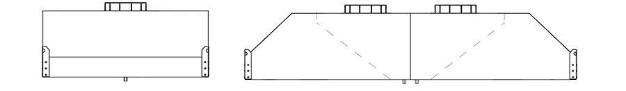 Зонт приточно-вытяжной нержавеющий ЗПВН-04