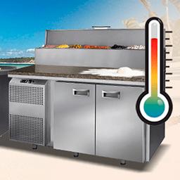 Изменение климатического класса холодильных столов