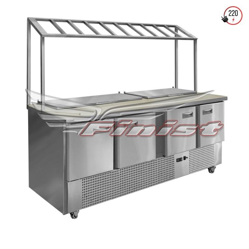 Холодильный стол для салатов СХСнс-700-4, передвижной