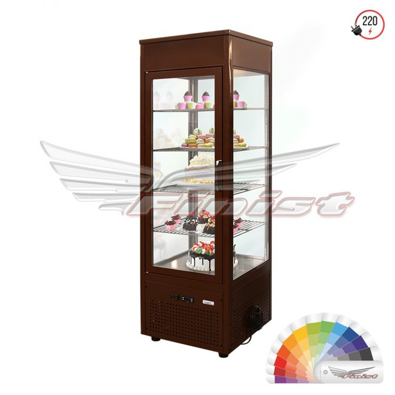 Вертикальная кондитерская холодильная витрина (сталь,стеклопакет) NATALY