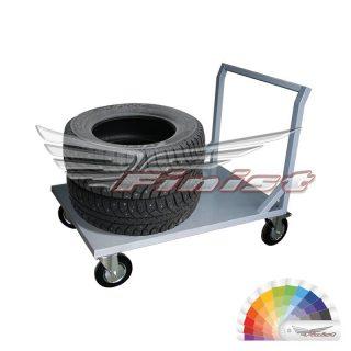 Тележка платформенная для перевозки колёс