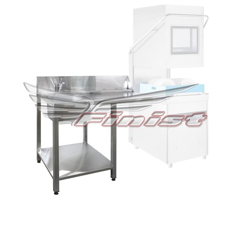 Стол для купольной посудомоечной машины на зацепах