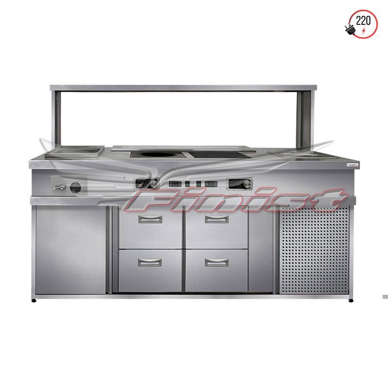 Паста станция (модуль) с охлаждающим столом