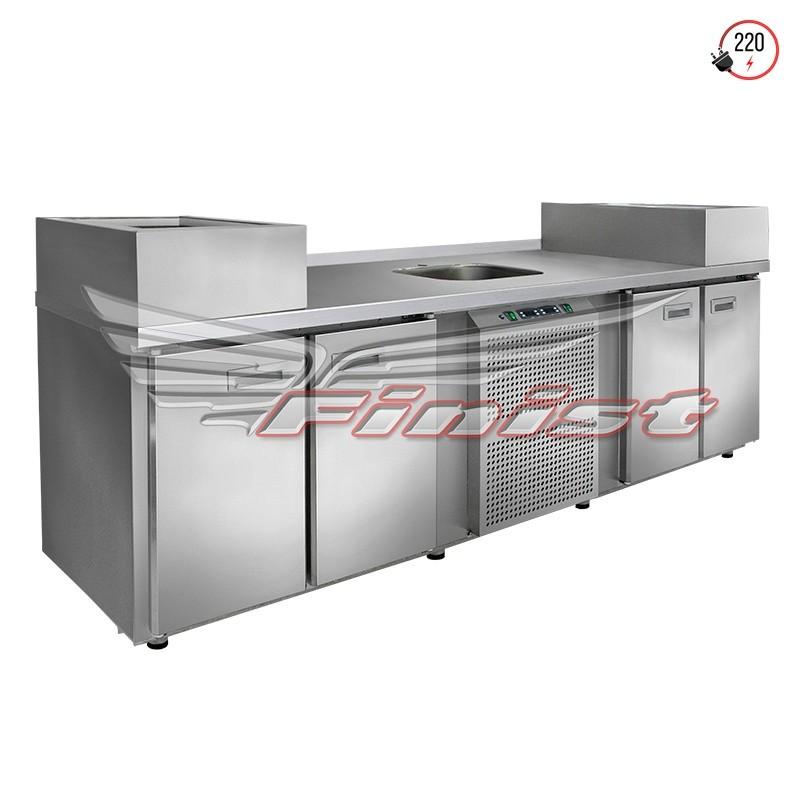 Холодильный стол - станция для приготовления (универсальный)