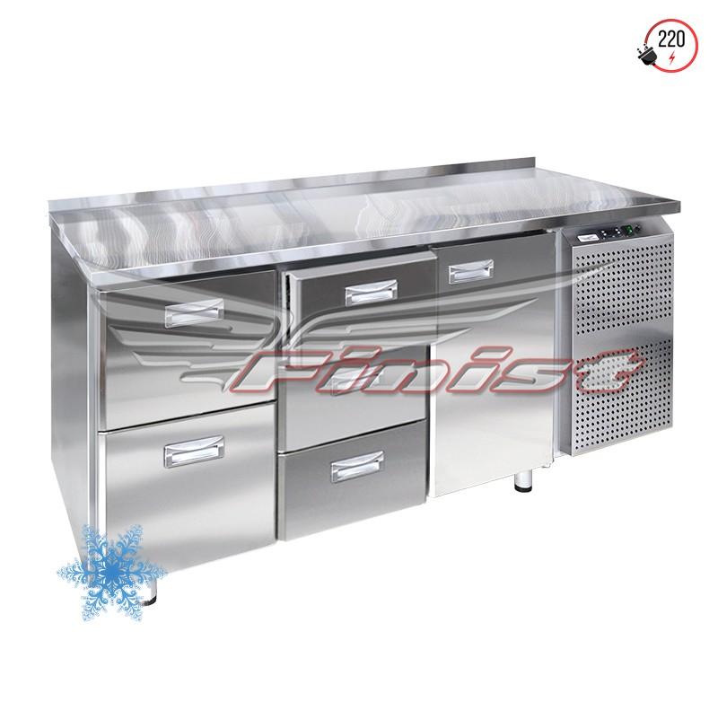 Низкотемпературный холодильный стол с двумя дверями (ящиками)