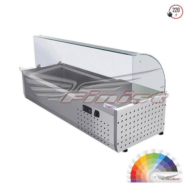 Настольная холодильная витрина «ToppingBox» с моллированным стеклом