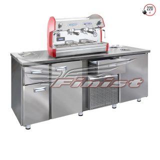 Холодильный стол среднетемпературный с нейтральными секциями, каплесборником и нок-боксом