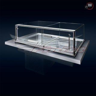 Комбинированная встраиваемая витрина Glassier58